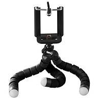 Штатив настольный XoKo с держателем для телефона/GoPro/фотоаппарата Octopus SS-001 Black