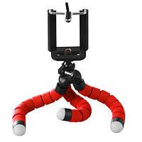 Штатив настольный XoKo с держателем для телефона/GoPro/фотоаппарата Octopus SS-001 Red