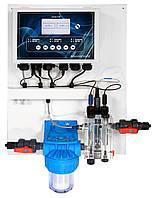 Система контроля и регулирования уровней PH, RX и свободного хлора PH-RX-CL-F CONTROL PANEL (0-20 ppm)