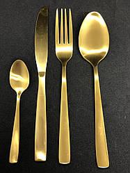 Набор столовых приборов в коробке 4 предмета Золото