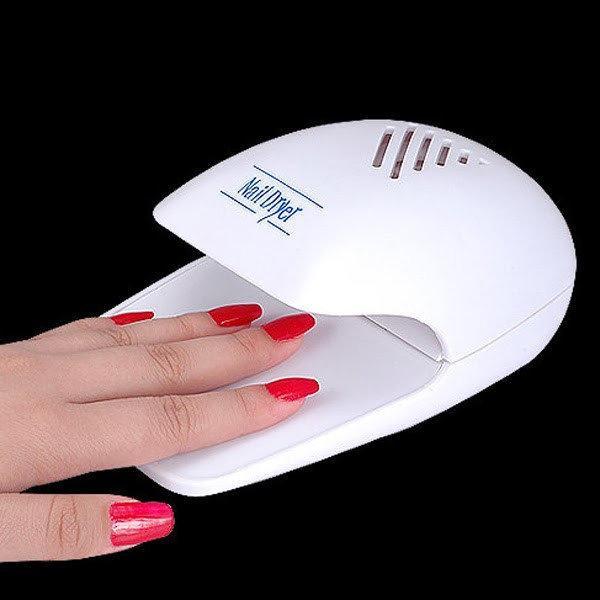Компактный прибор для сушки лака Nail Dryer ( на батарейках)