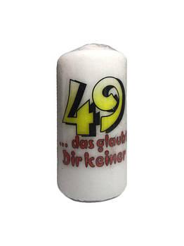 Свеча 49 лет KERZEN