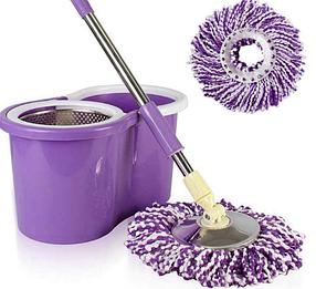 Швабра Spin and Go с отжимом и ведром для мытья пола