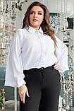 Блуза женская с брошью батал, фото 2