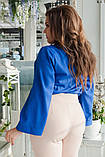 Блуза женская с брошью батал, фото 4