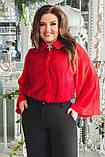 Блуза женская с брошью батал, фото 5