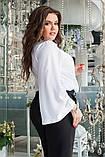 Блуза женская с брошью батал, фото 3