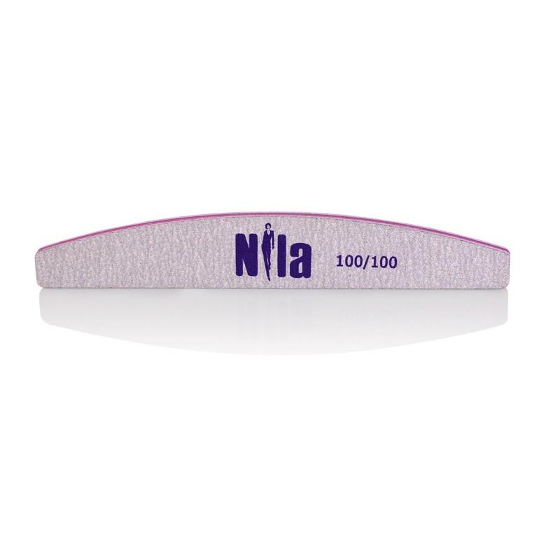 Nila Пилочка для ногтей серая Half 100/100