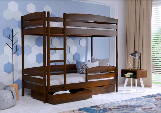 Кровать двухъярусная Дуэт Плюс 101 темный орех