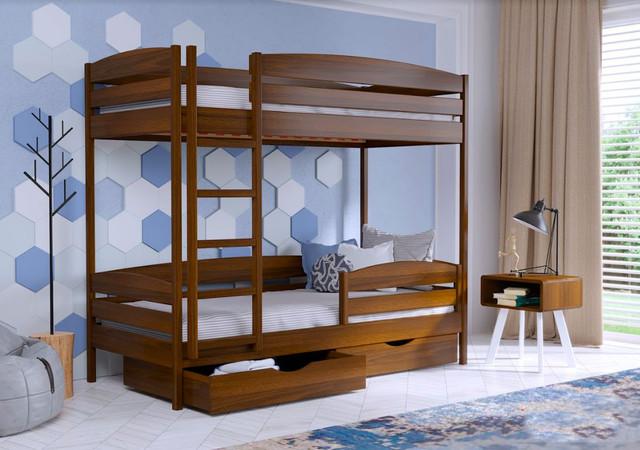 Кровать двухъярусная Дуэт Плюс 103 орех темный