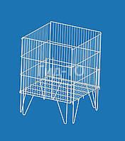 Накопитель сетчатый для распродажи с регулируемым дном усиленный (80х65х55)