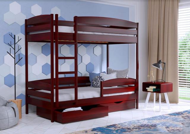 Кровать двухъярусная Дуэт Плюс 104 красное дерево