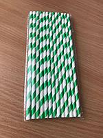 Трубочка бумажная для холодных напитков (зеленая) 25 шт/упаковка