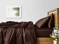 Комплект евро взрослого постельного белья сатин CHOCOLATE