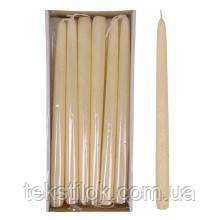 Свеча конусная Велюр Брокат 30 см.кремовая