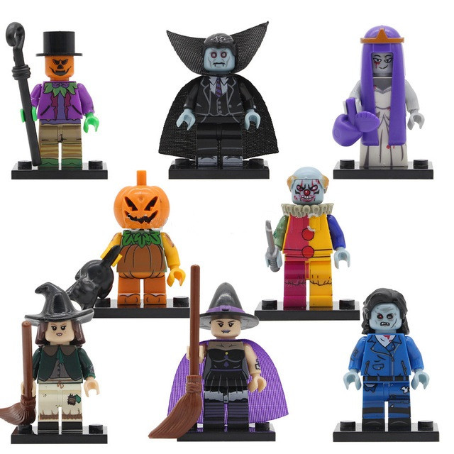Фигурки  Зомби призраки Хэллоуин  Lego Лего Клоун Ведьма Тыква Вампир