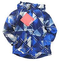 Детская демисезонная куртка для мальчика синяя 9-10 лет