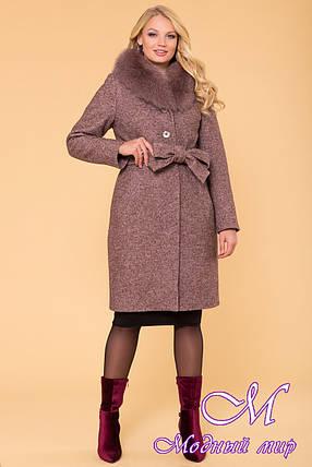 Женское зимнее пальто с мехом батал (р. XL, XXL, XXL) арт. Г-60-48/40765, фото 2