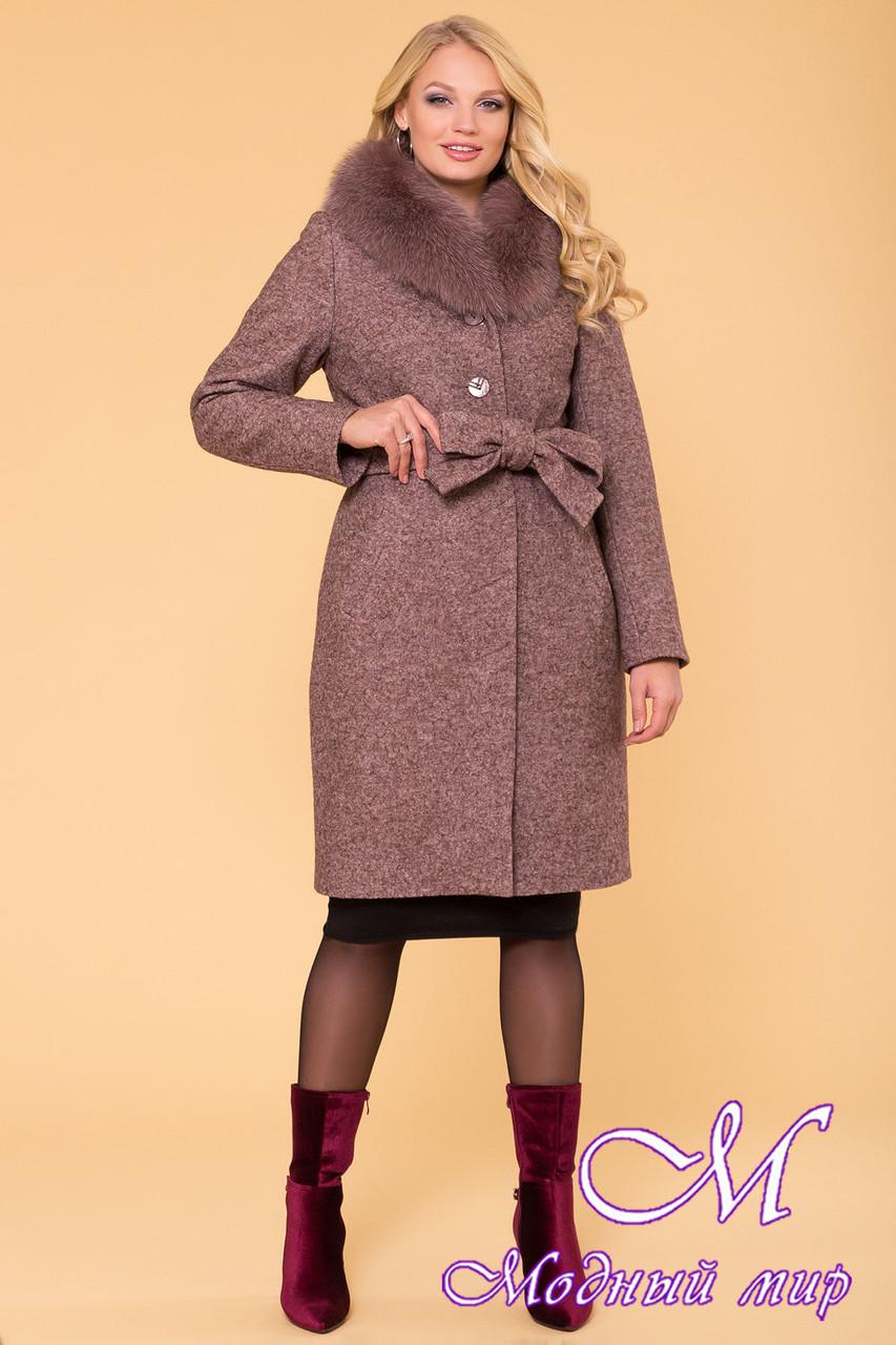Женское зимнее пальто с мехом батал (р. XL, XXL, XXL) арт. Г-60-48/40765