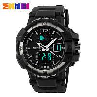 Мужские спортивные часы Skmei Shock Resistant черные с серым