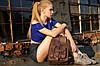 """Женский Рюкзак """"Модель №73"""" Винтажная кожа цвет Бордо, фото 8"""