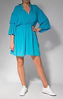 Платье женское свободное рукав три четверти от бренда Адель Лероу .