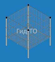 Корзина презентационная «Средняя» хром (620х720х750)