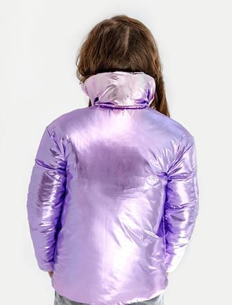 Детская куртка демисезонная для девочки двусторонняя | 128-164р., фото 2
