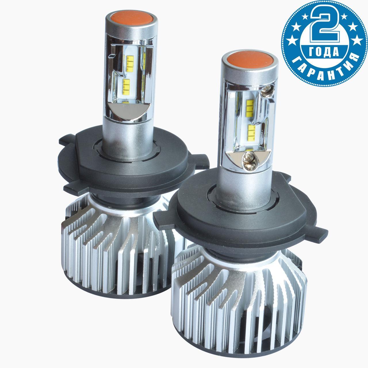 Лампи світлодіодні H4 (5000К) Prime-X Z Pro