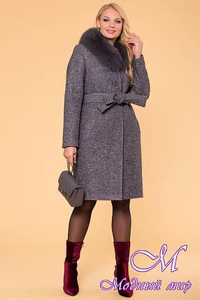 Женское зимнее пальто больших размеров (р. XL, XXL, XXXL) арт. Г-60-48/40766, фото 2