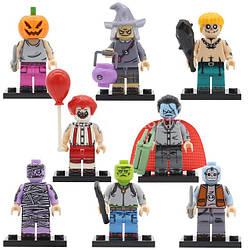 Фигурки  Зомби призраки Хэллоуин  Lego Лего Клоун Ведьма Тыква Вампир мумия