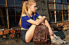 """Женский Рюкзак """"Модель №73"""" Винтажная кожа цвет Коньяк, фото 9"""