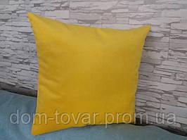 Подушка декоративная 40х40 ярко-желтая