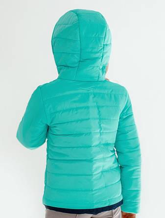 Детская куртка демисезонная для девочки двусторонняя | 122-146р., фото 2