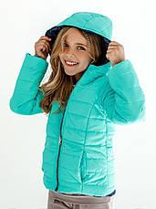 Детская куртка демисезонная для девочки двусторонняя | 122-146р., фото 3