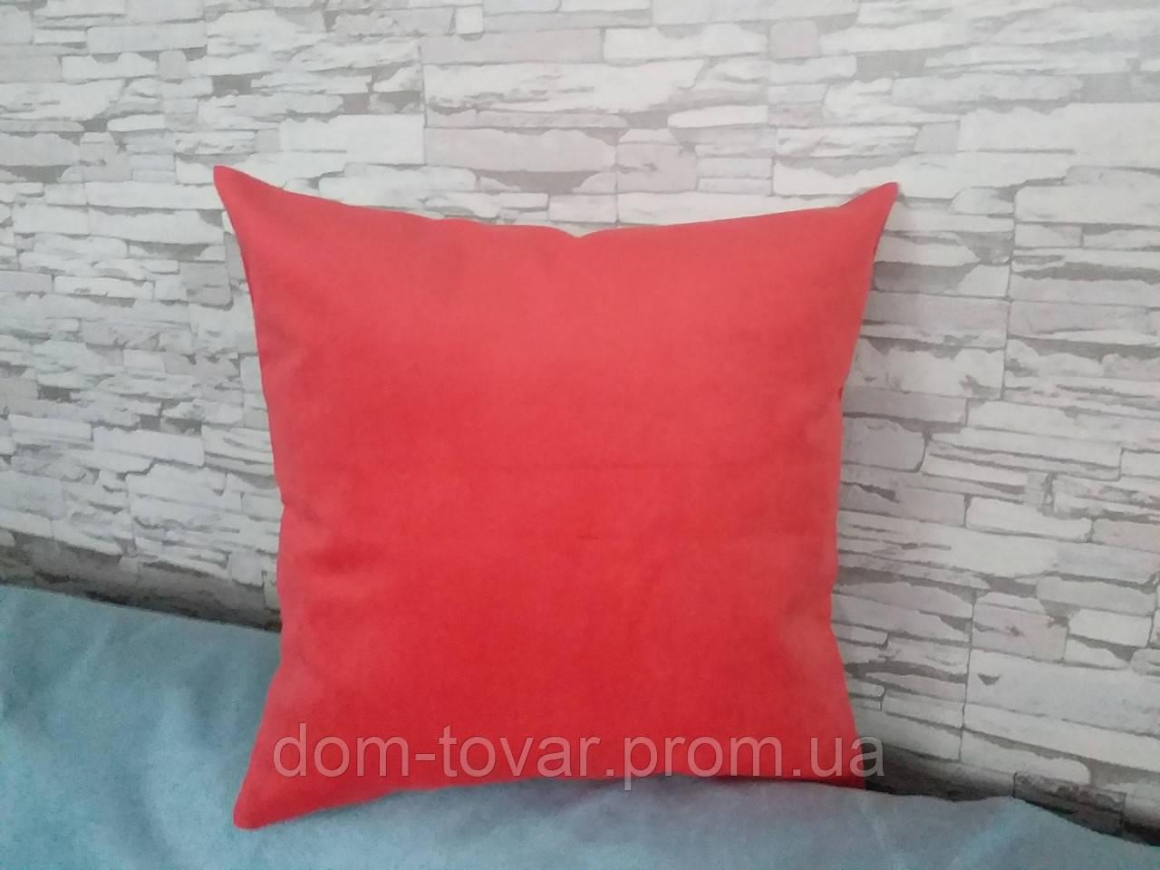 Подушка декоративная 40х40 коралл