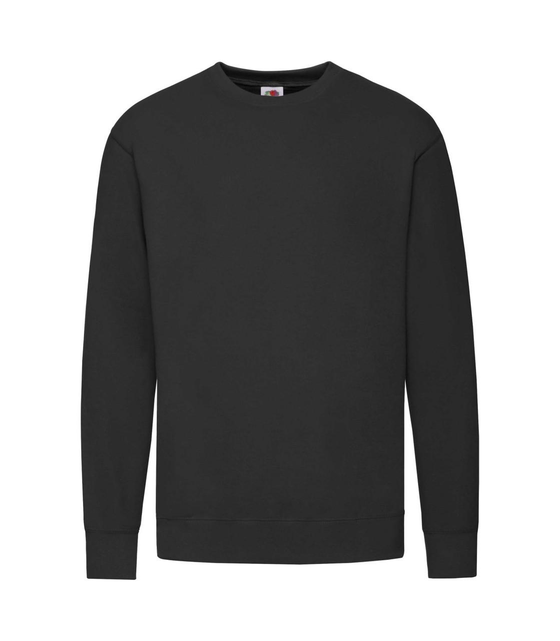 Мужской свитшот легкий черный 156-36