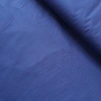 Коттон стрейч однотонный синий, ширина 145 см