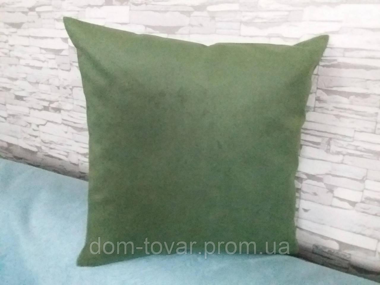 Подушка декоративная 40х40 зеленая