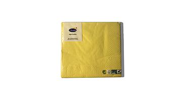 Салфетки желтые 33 х 33 см Duni