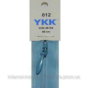Молния YKK потайная 60см Голубой