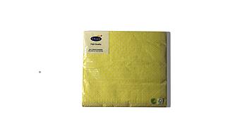 Салфетки желтые в точечку 33 х 33 см Duni