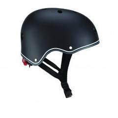 Дитячий захисний шолом Globber чорний з ліхтариком 48-53см (XS/S) 505-120