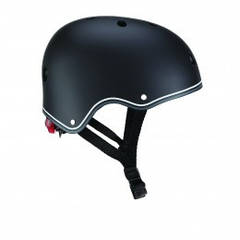 Защитный детский шлем Globber черный с фонариком 48-53см (XS/S) 505-120