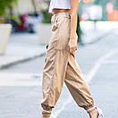 Штаны карго с завышенной талией на манжете, фото 8