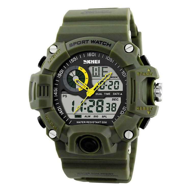 Мужские спортивные часы Skmei S-Shock зеленые