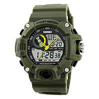 Мужские спортивные часы Skmei S-Shock зеленые, фото 1