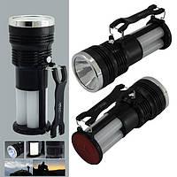 Аккумуляторный фонарь Yajia YJ-2881 1W+24SMD (кабель 220V) 17см, фото 1