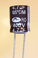 4,7мкф-350v (105°C) <BXC> (10*14)  Rubycon