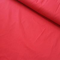Коттон стрейч однотонный красный, ширина 145 см